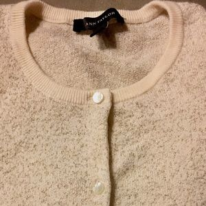 Ann Taylor Cream Cardigan Sweater